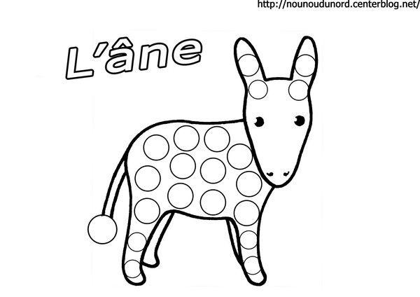 Coloriage L âne à Gommettes Gommette Coloriage Et