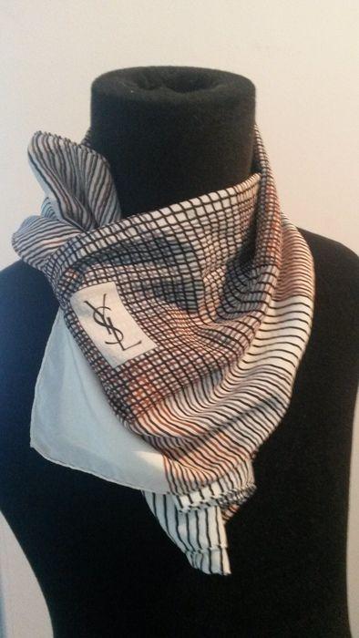 155ef995cef9 Catawiki online auction house  Yves Saint Laurent silk scarf