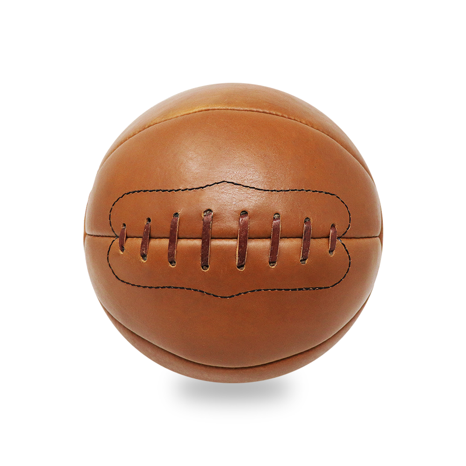Vintage Leather Medicine Ball 12lb Tan Leather Medicine Ball Vintage Leather Tan Leather