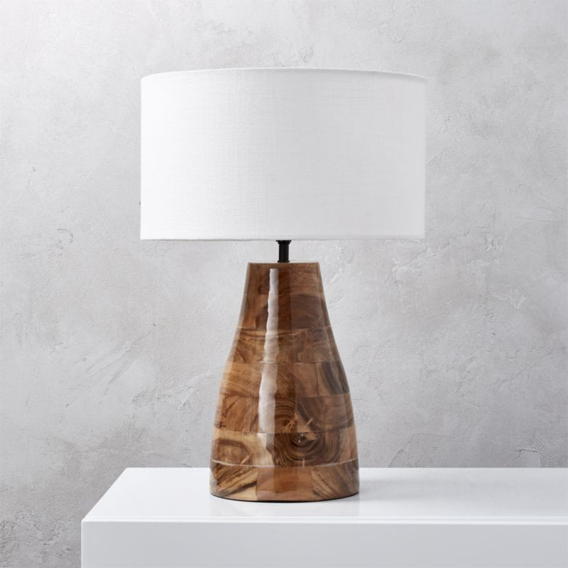 Shop Colby Lacquered Wood Base Table Lamp Acacia Wood With Hi Gloss Lacquer Finish Adds Shine And Warmth To Any Setting Ta Table Lamp Wood Table Lamp Lamp