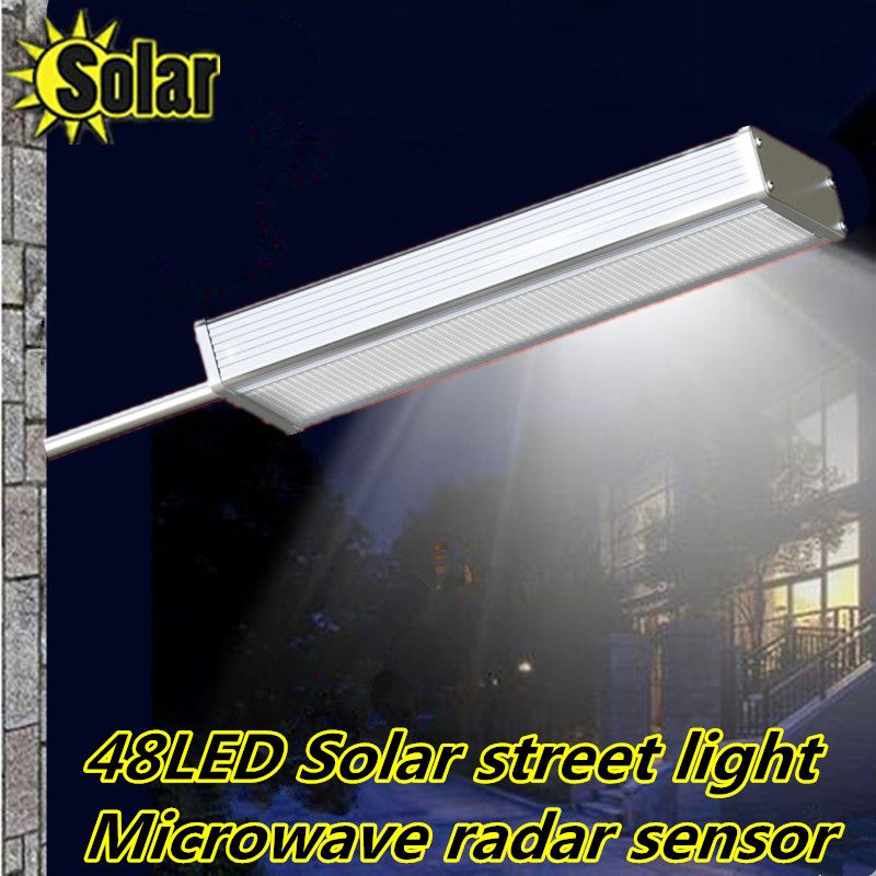2016new Highlight 48led Solar Led Light Microwave Radar Sensor Outdoor Path Wall Emergency Lamp Securi Solar Led Lights Outdoor Solar Lights Solar Street Light
