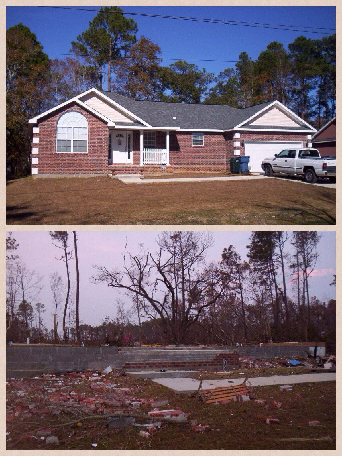 My House In Biloxi Before And After Hurricane Katrina