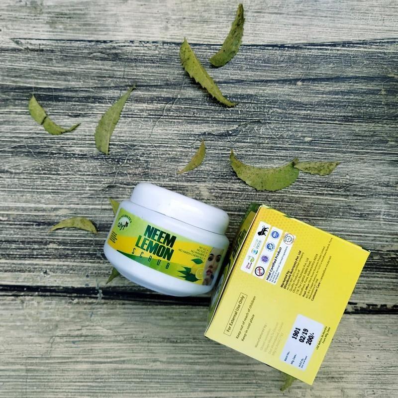 Olyf Face Scrub Neem and Lemon, 150gm in 2020 Paraben