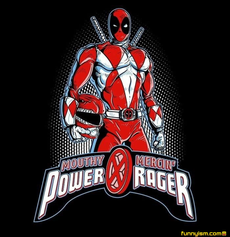 deadpool power rangers  wolverine comic power rangers