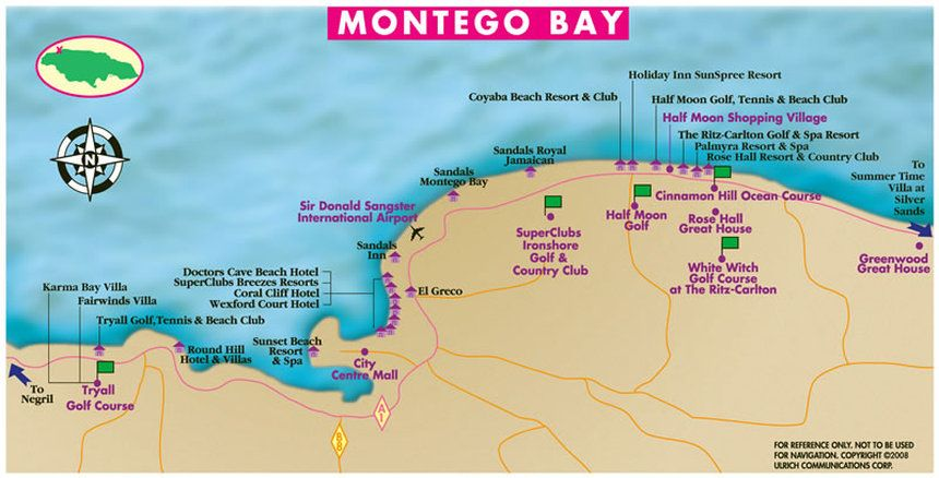 montego bay jamaica hotel map Picture Favorite Places Spaces