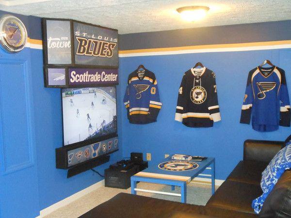 Man Cave Hockey Room : Blues man cave st louis hockey men