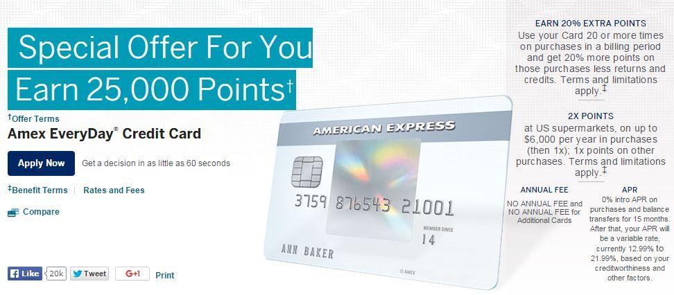 Amazing amex everyday card signup bonus everyday card