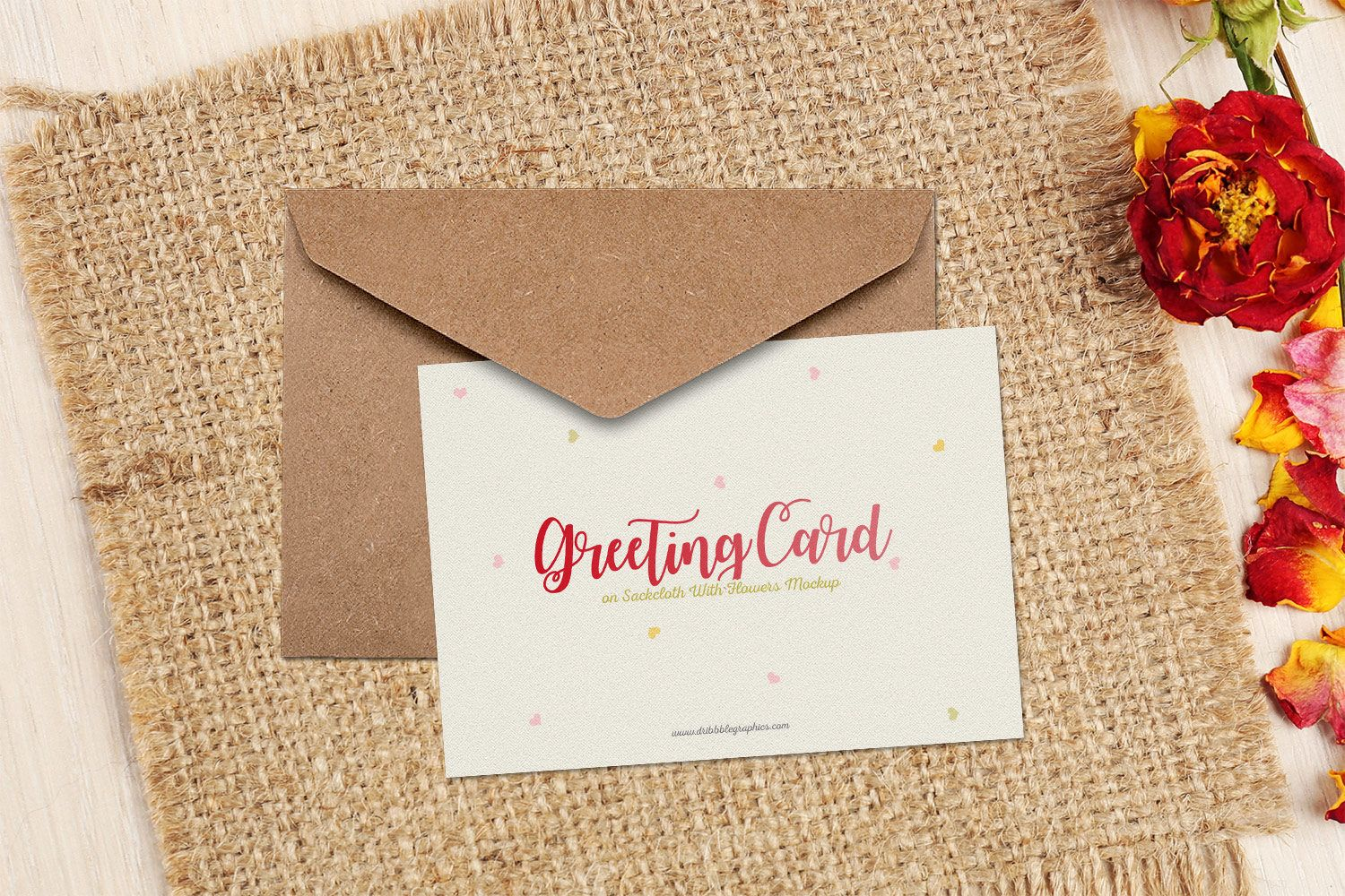 Showcase your greeting card design in a photorealistic look with showcase your greeting card design in a photorealistic look with this free mockup psd file kristyandbryce Choice Image
