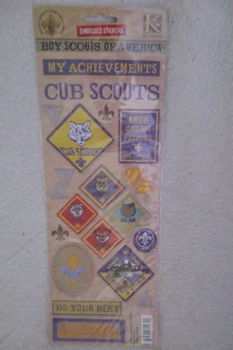 Kcompany K550322 Boy Scouts Of America Embossed Stickers Cub Scout