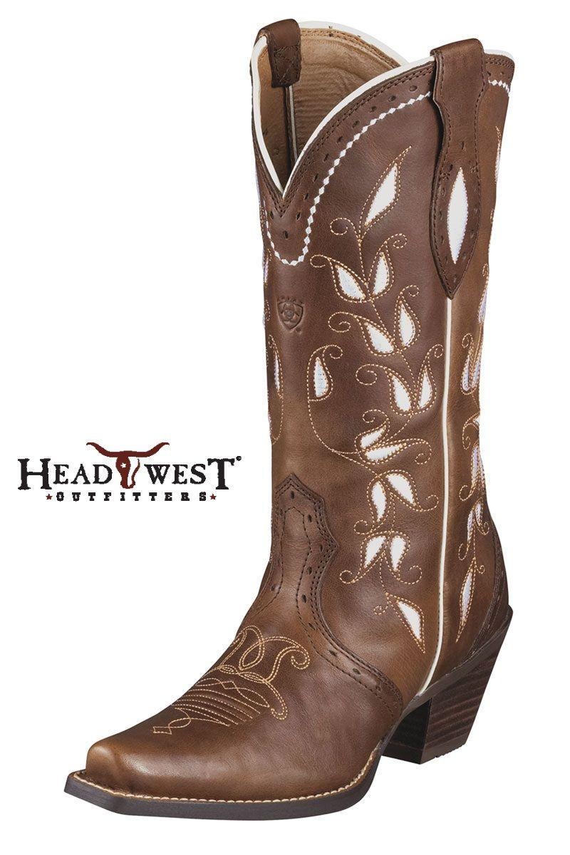 Ariat Womens Sonora Cowboy Western Boot Bitterwater Brown 10006310 ...