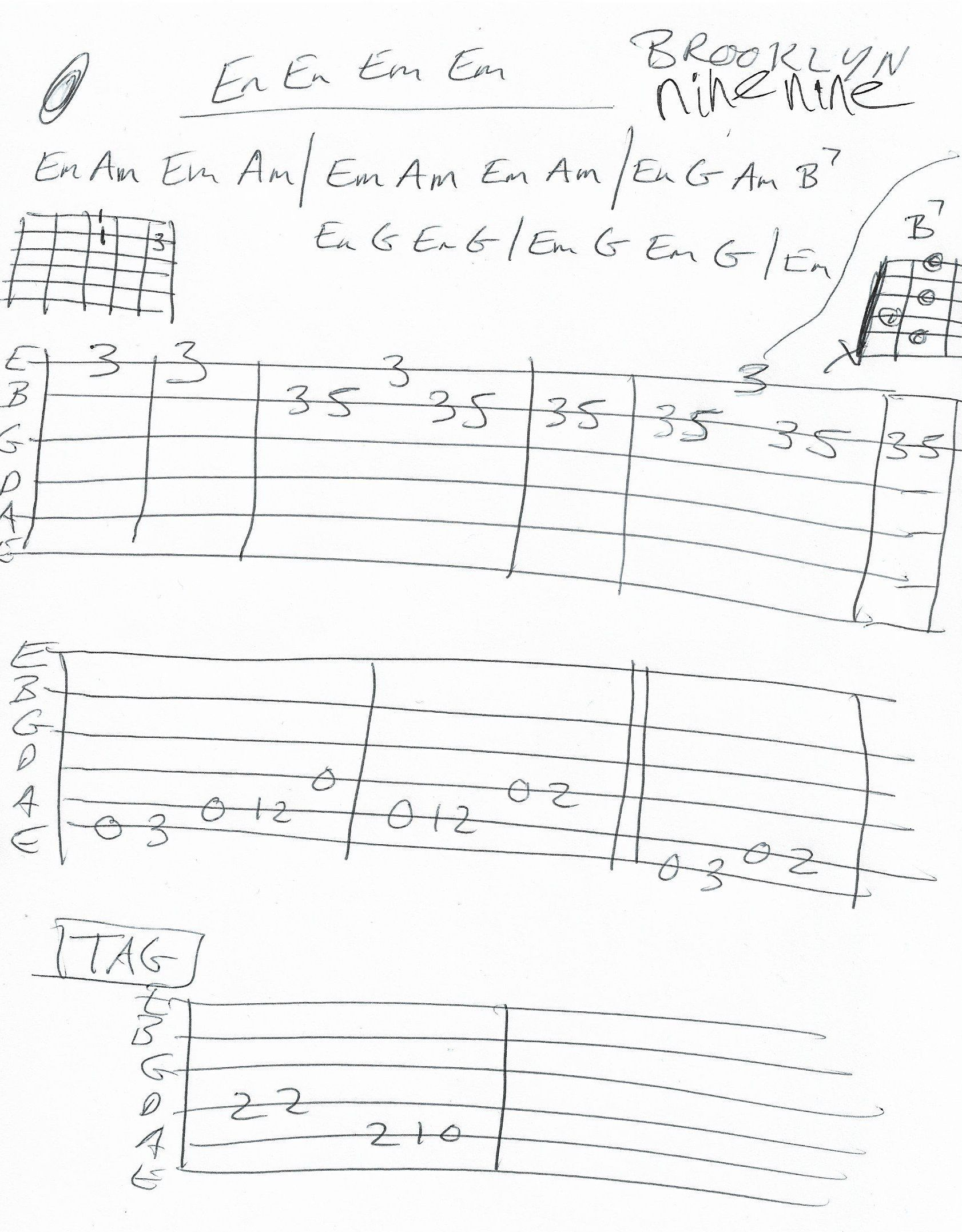 Brooklyn Nine Nine Theme Guitar Chord Chart 2018 Guitar Lesson