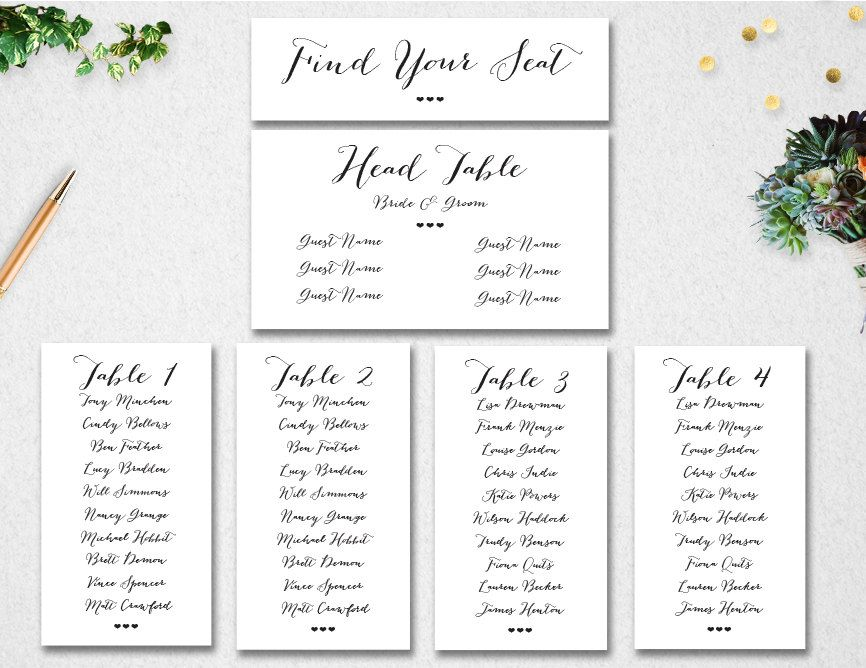Image Result For Table Assignment Template