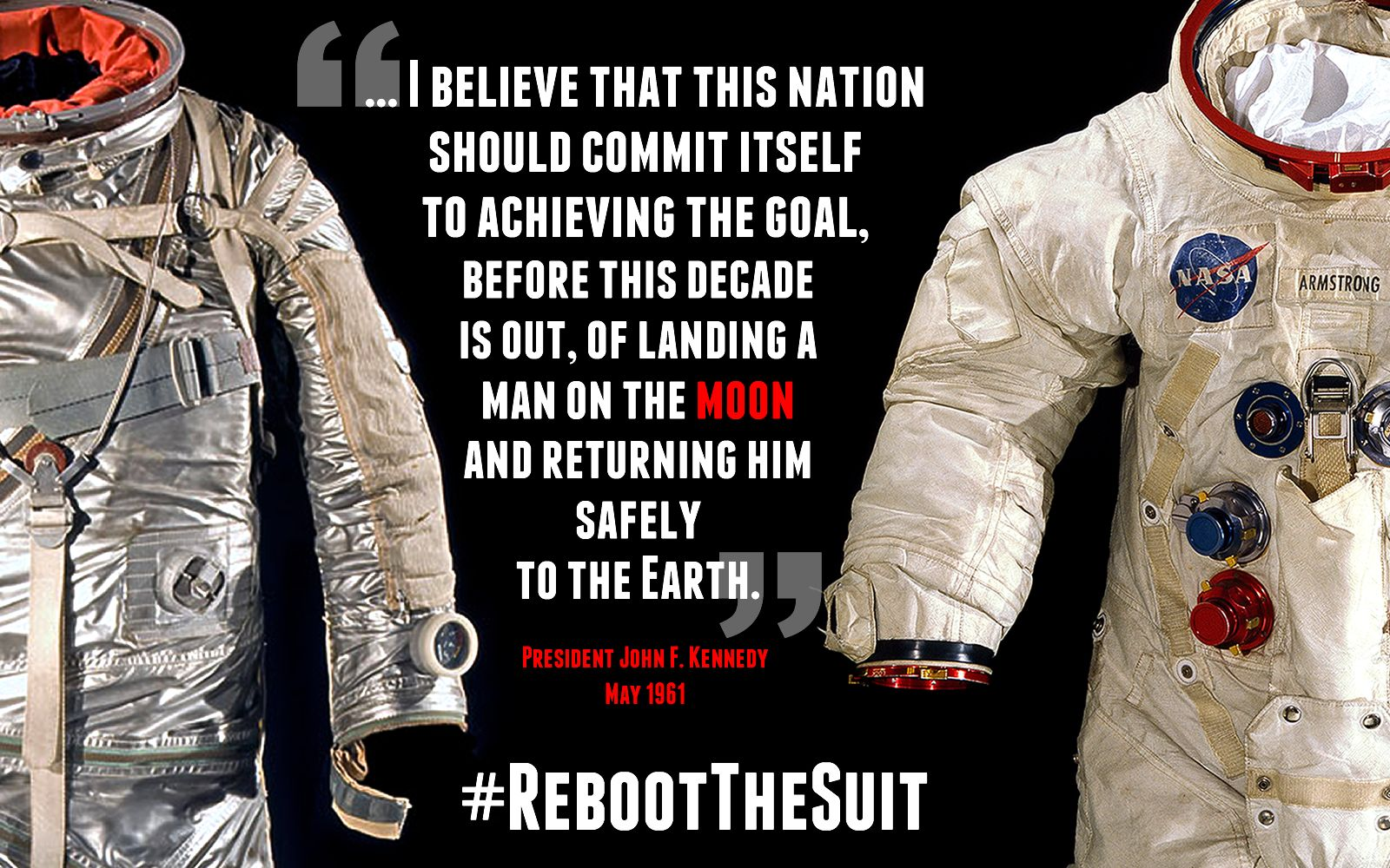 Two weeks ago, we invited you to become part of our mission to conserve, digitize, and display Neil Armstrong's Apollo 11 spacesuit. Thanks to your amazing support, we expanded the mission to include Alan Shepard's Mercury suit, and we're halfway to that goal! Haven't backed #RebootTheSuit yet? Today only, Bruce R. McCaw and Family will match your pledge up to a total of $10,000.