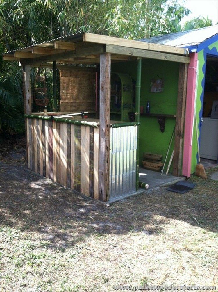 Wood Pallet Tiki Bar