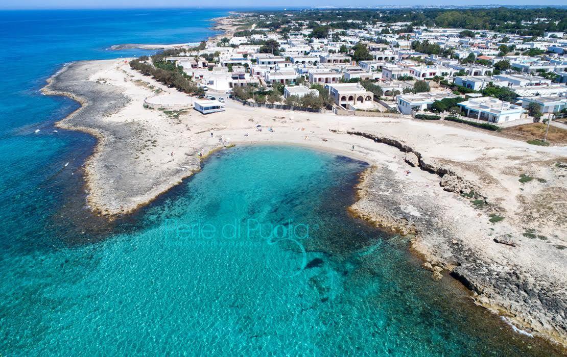 Marina di Mancaversa, sulla costa di Taviano, vista dall