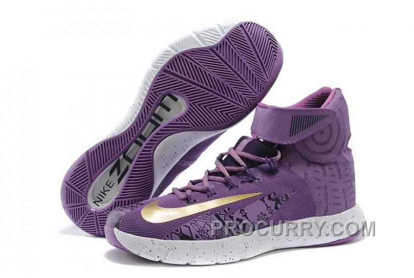 "465be27fa83d Nike Zoom Hyperrev KYRIE IRVING ""BHM"" Purple Venom University Gold ..."