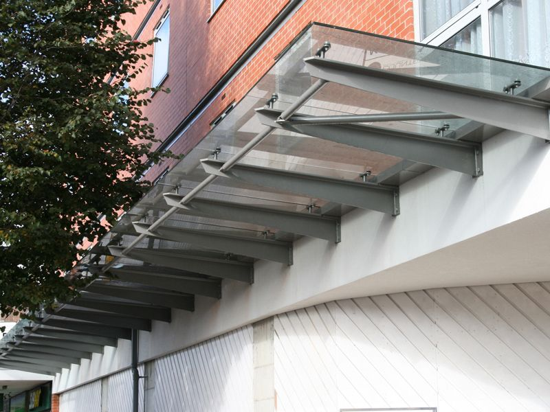 Glass Canopy Entrance