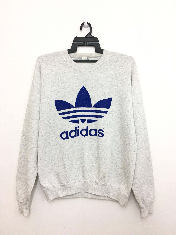 Rare Vintage 90 S Adidas Trefoil Sweatshirt Big Logo Etsy Sweatshirts Adidas Trefoil Used Clothing [ 3000 x 2250 Pixel ]