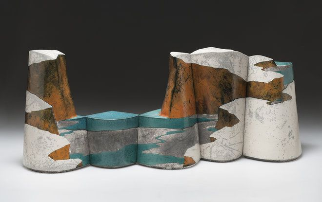 Wayne Higby At The Racine Art Museum Reflects Canyon Landscapes Ceramic Art Native American Pottery Raku Pottery