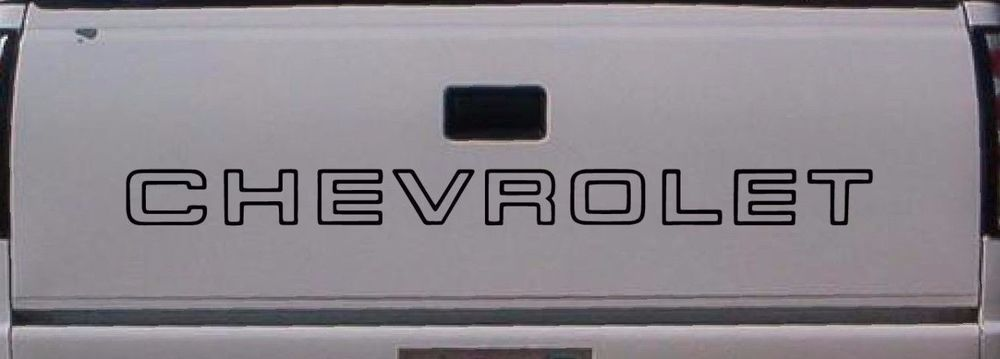 Chevrolet Tailgate Truck Lettering 1500 Silverado Sticker