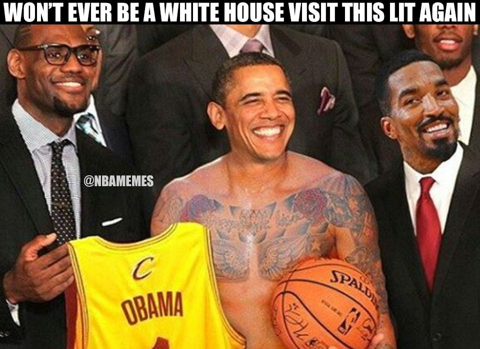Funny Meme Nba : Rt nbamemes obama went full j r smith during the cavs white