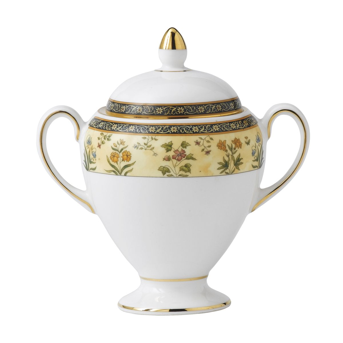 Wedgwood India Dinnerware Globe Covered Sugar Bowl Wedgwood
