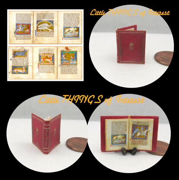 MEDIEVAL ROYAL BESTIARY Miniature Dollhouse Book 112 Scale Color