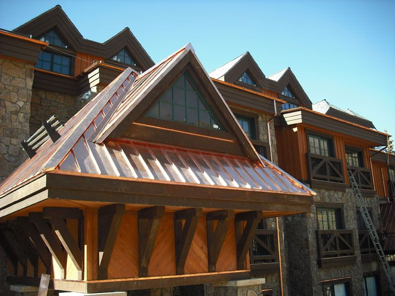 If You Are Bored With The Usual Aluminum Or Asphalt Roofing For Your House Then Copper Roofing Is The Thing For You Copper Roof Roof Construction Roof Repair