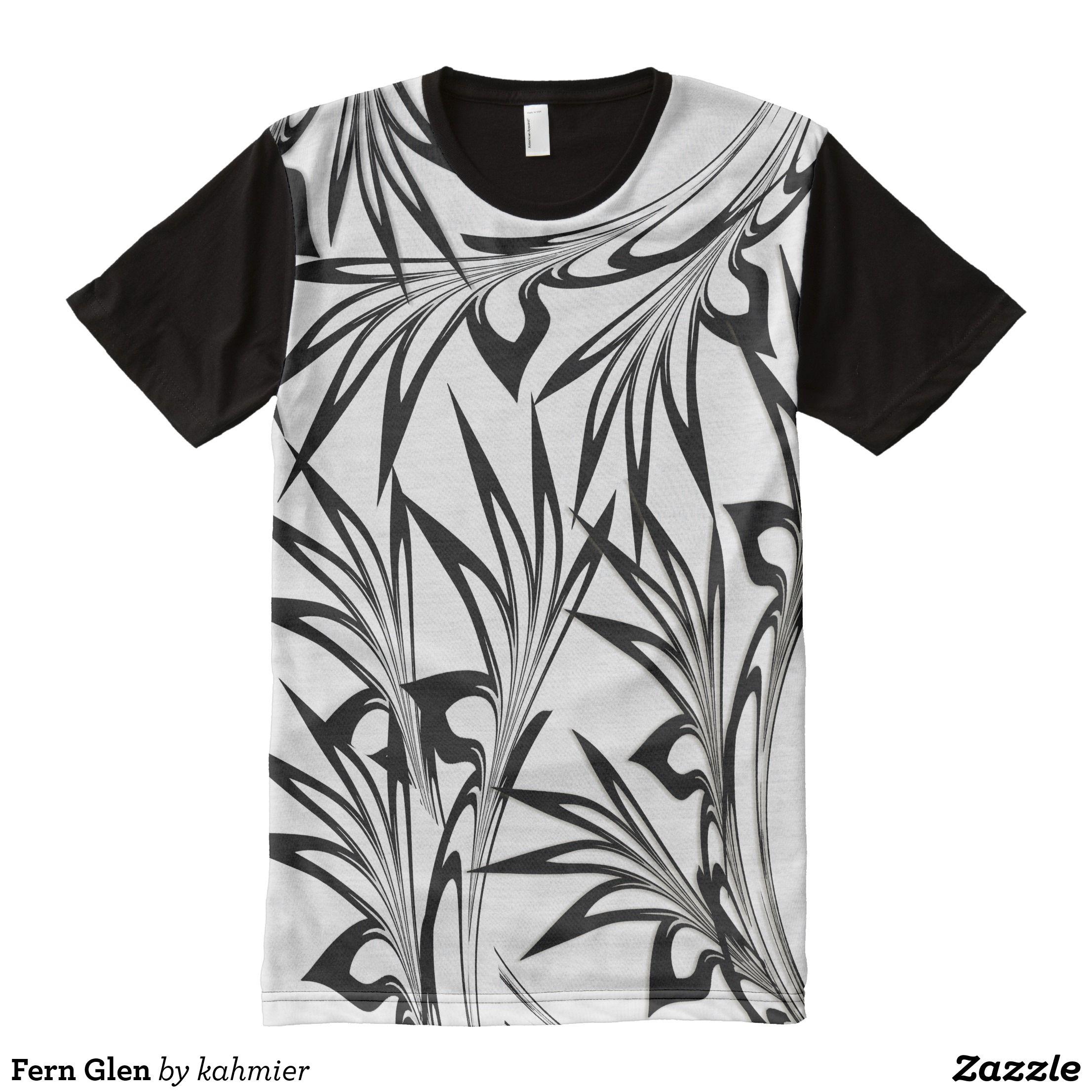 Fern Glen All Over Print T Shirt Visually Stunning Graphic T