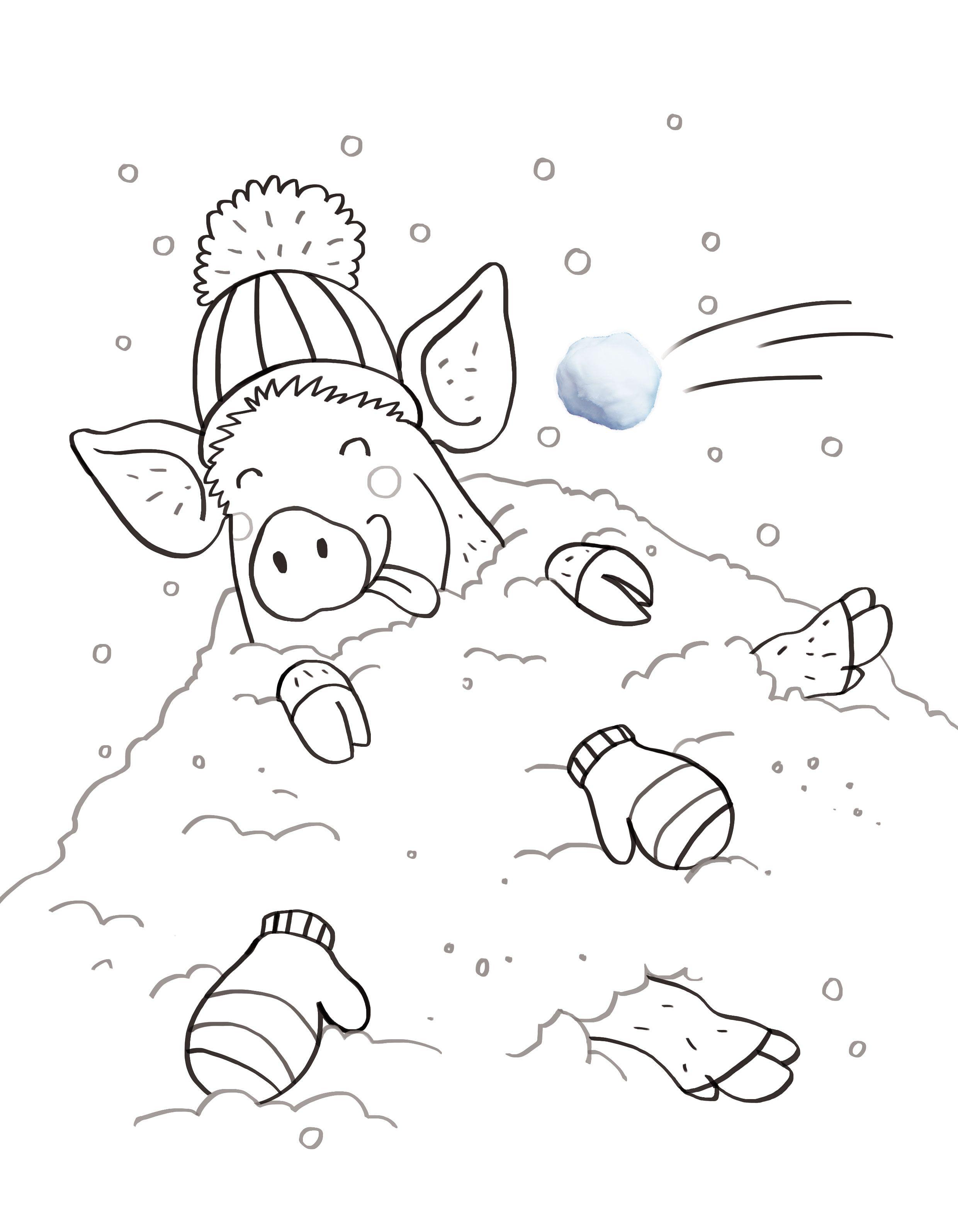 Kleurplaten Seizoen Winter.Baby Swing Goedkoop