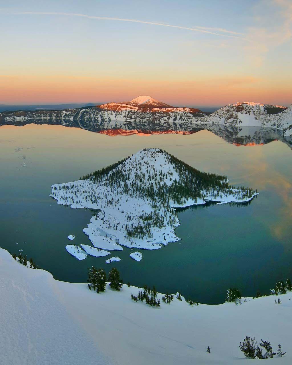 Winter at Crater Lake National Park