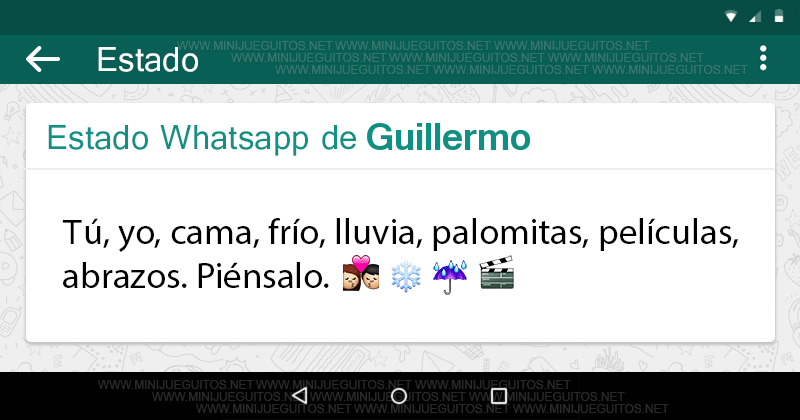 Tu Estado Whatsapp Minijueguitos Net Poco De Todo Pinterest