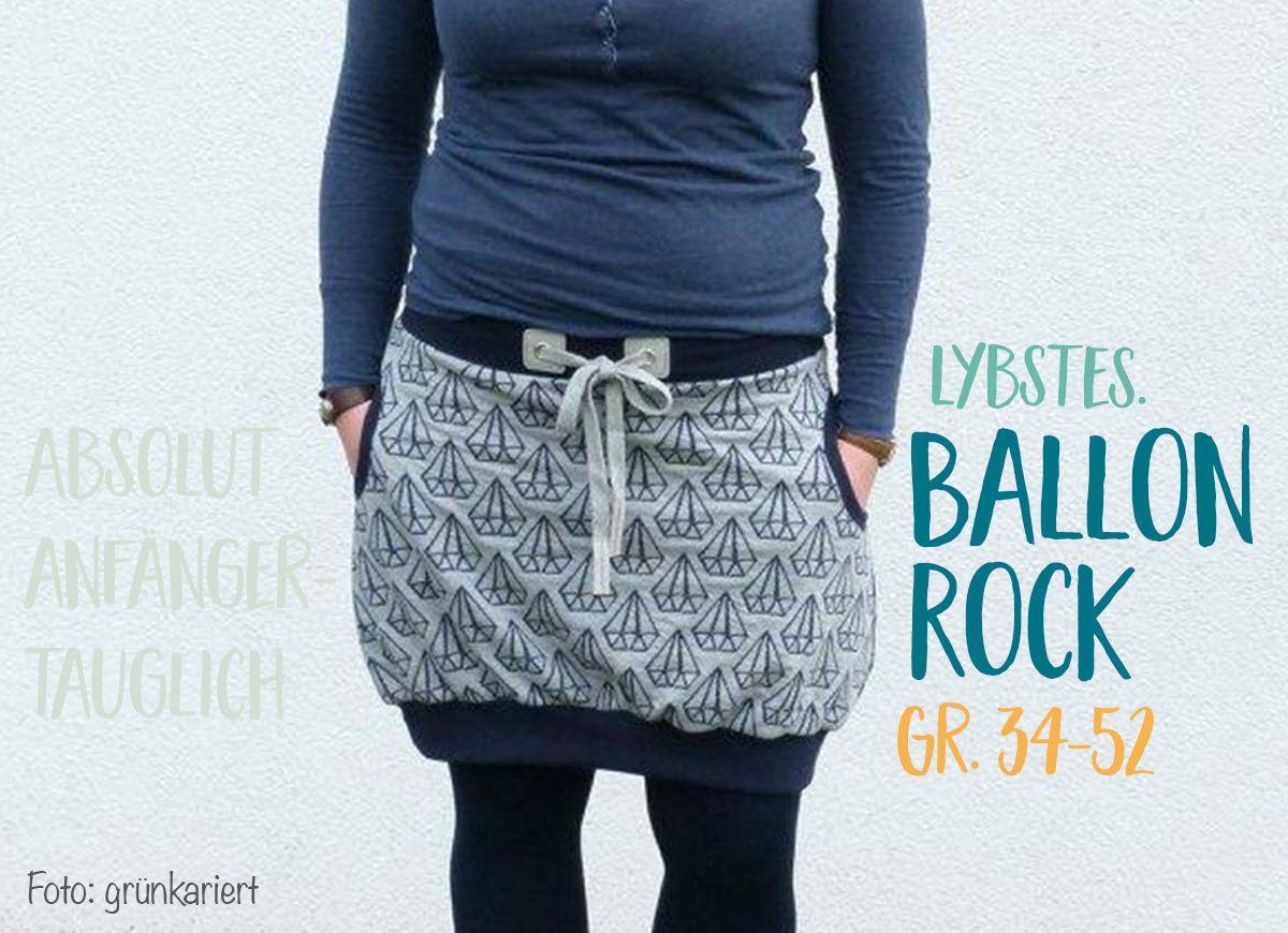 Lybstes Ballonrock in Gr. 34-52, neues E-Book und