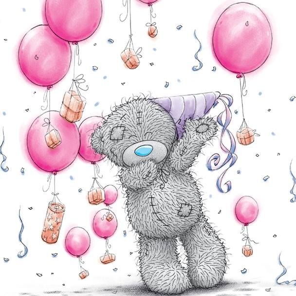 Me to you Tatty Bear Figurine 18 Today with Balloons BOXED
