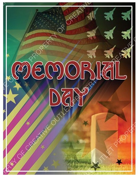 Memorial Day clip art from creativeoutlet.com