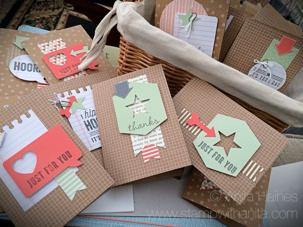 LOVE THIS KIT... Hip Hip Hooray Designer Card Kit 20 cards for only $19.95 www.stampwithanita.com