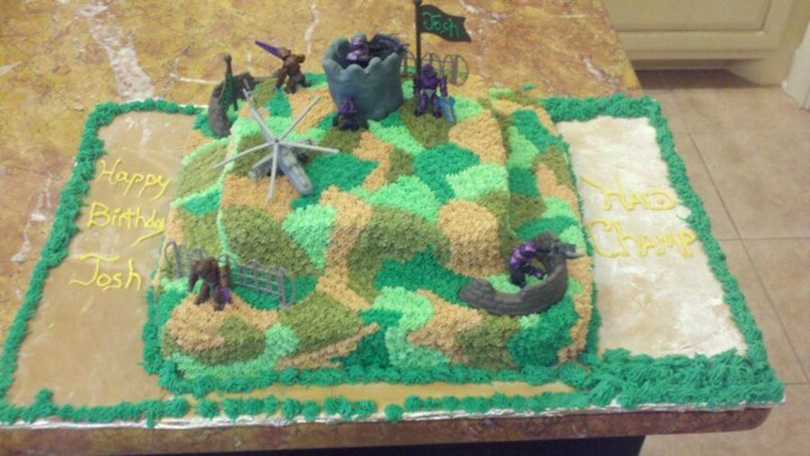 Camouflage Halo Cake on Cake Central BIRTHDAY IDEAS Pinterest