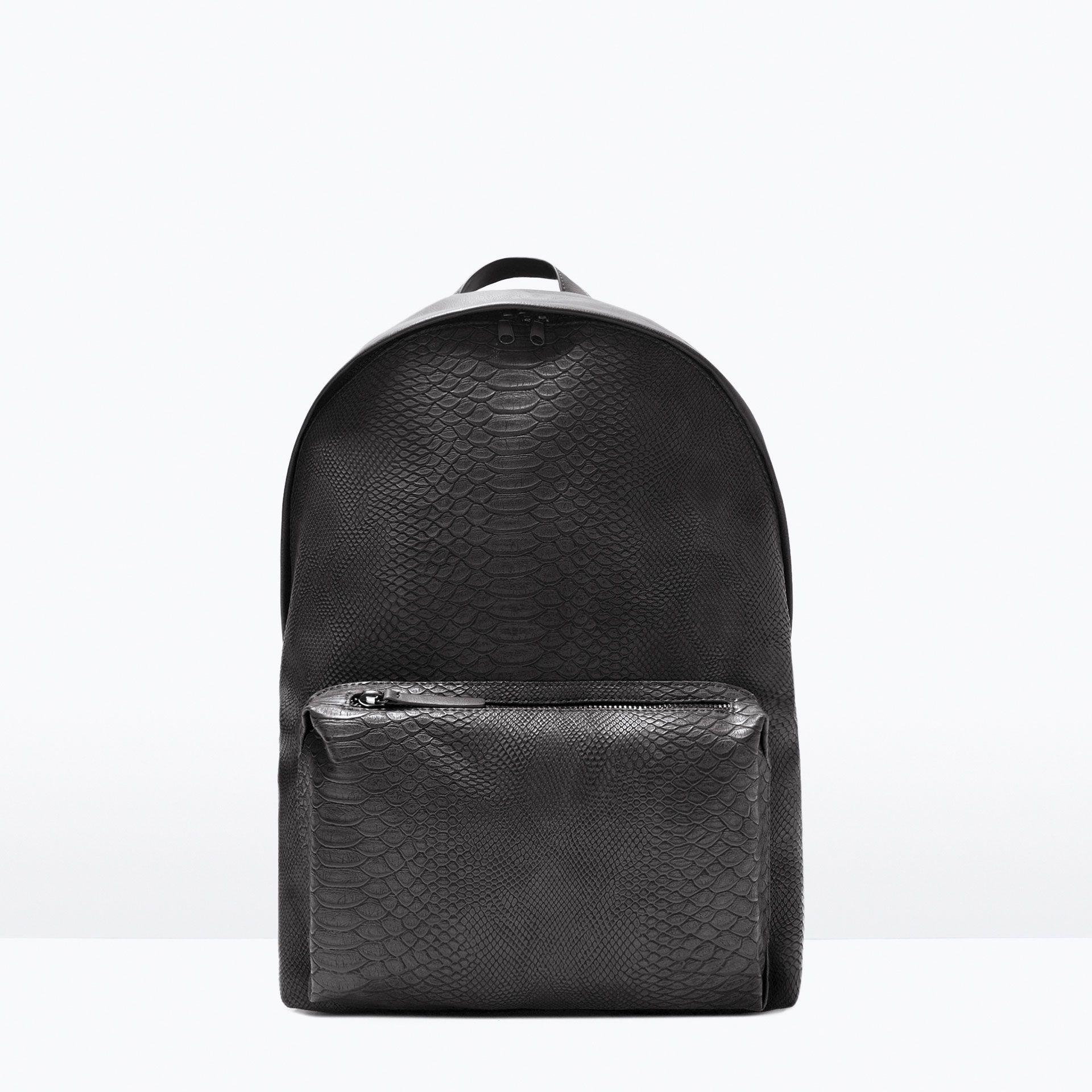 1d2df41c13 ZAINO CON INCISIONI - Viaggio - Borse - UOMO | ZARA Italia | Leather ...