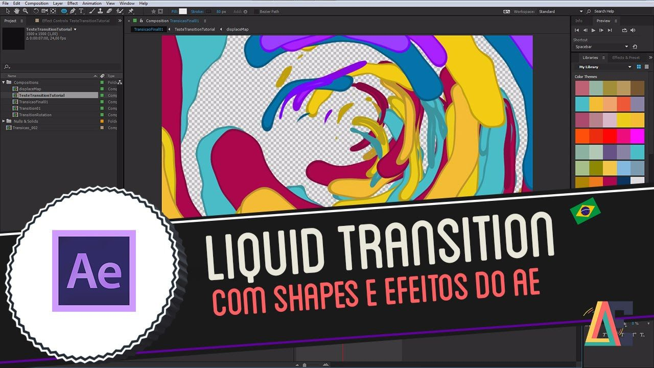 Tutorial Adobe After Effects: Liquid Motion Transition | mograph
