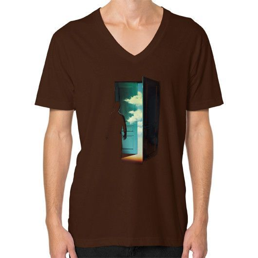 Door to the World V-Neck (on man)