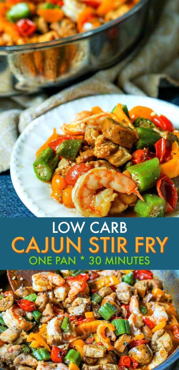 Low Carb Cajun Stir Fry Skillet Dinner in less than 30 minutes!