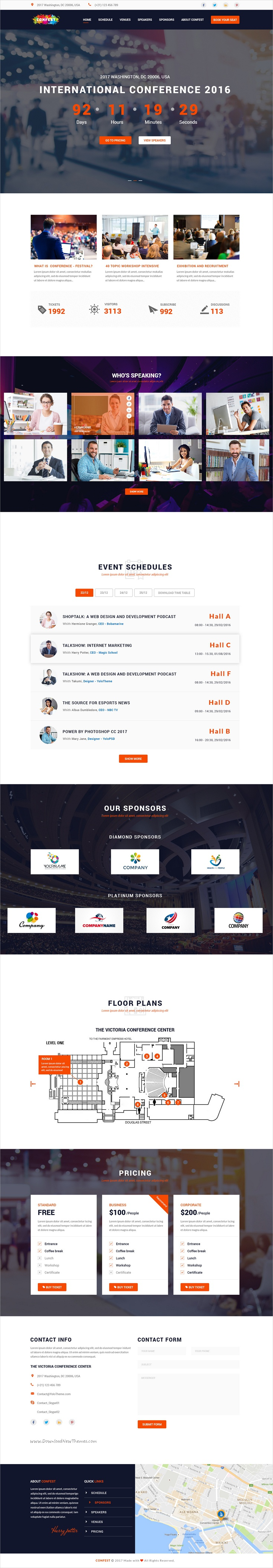 Confest  MultiPurposes Event And Conference Psd Template  Psd