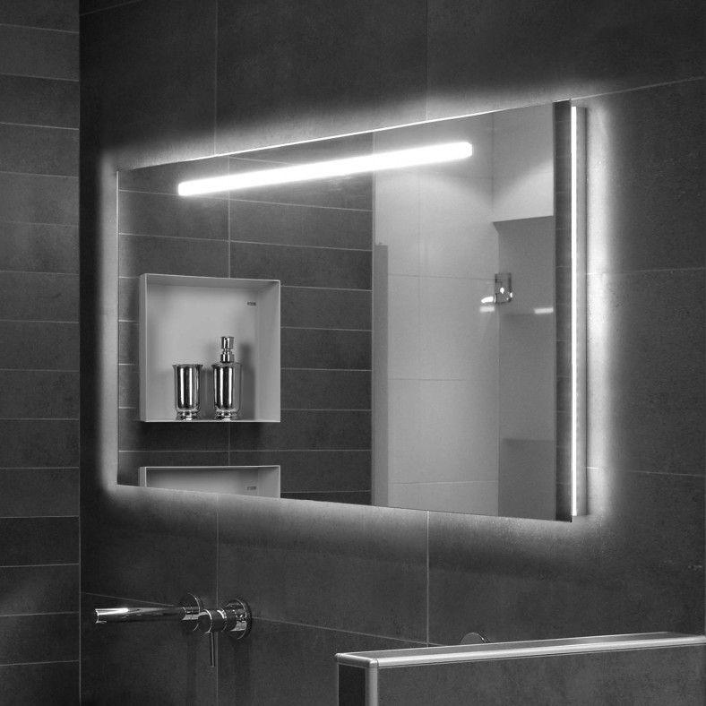 spiegel van looox genaamd mirror met led verlichting dat werkt via touch knop