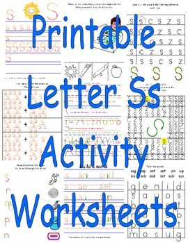 Printable Letter Ss Activity Worksheets