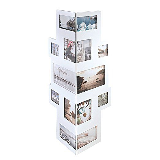 bilderrahmen collage f r ecken f r 14 fotos mdf holz wei praxis bilderrahmen rahmen und. Black Bedroom Furniture Sets. Home Design Ideas