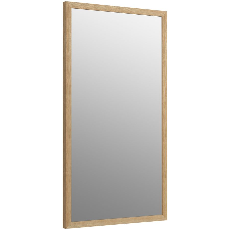 Kohler Jacquard 19.5-In X 34.5-In Khaki White Oak Rectangular Framed ...