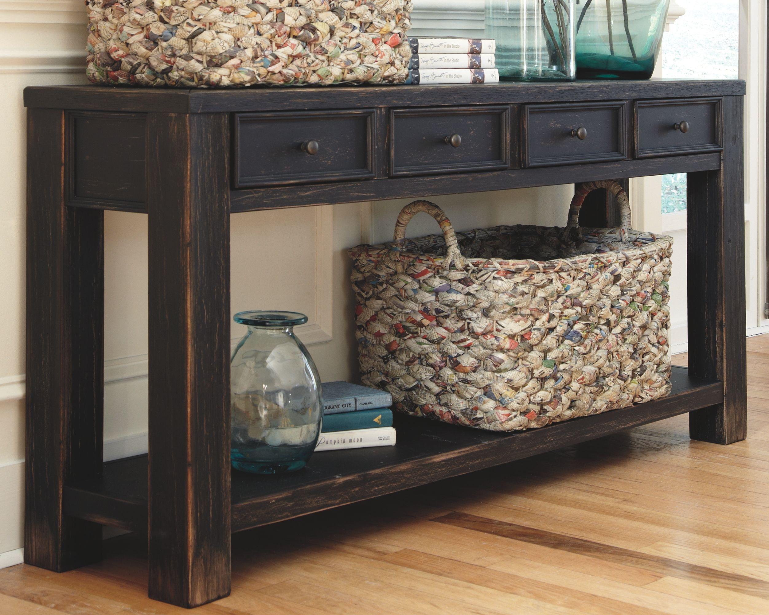 Gavelston Sofa Console Table Ashley Furniture Homestore Home Decor Black Sofa Table Room Decor