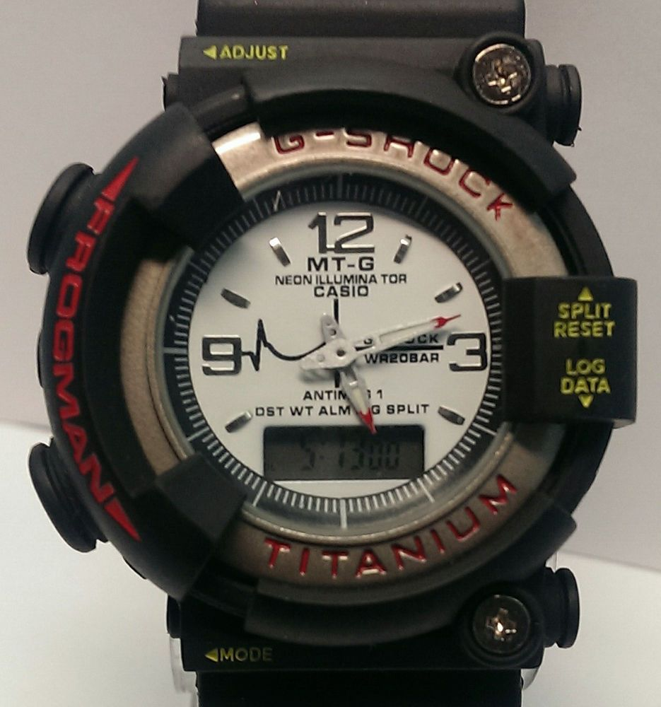 f1ce741c2e25 CASIO G SHOCK FROGMAN MT-G DW-8200 TITANIUM DIGITAL 200M AIR DIVERS WATCH