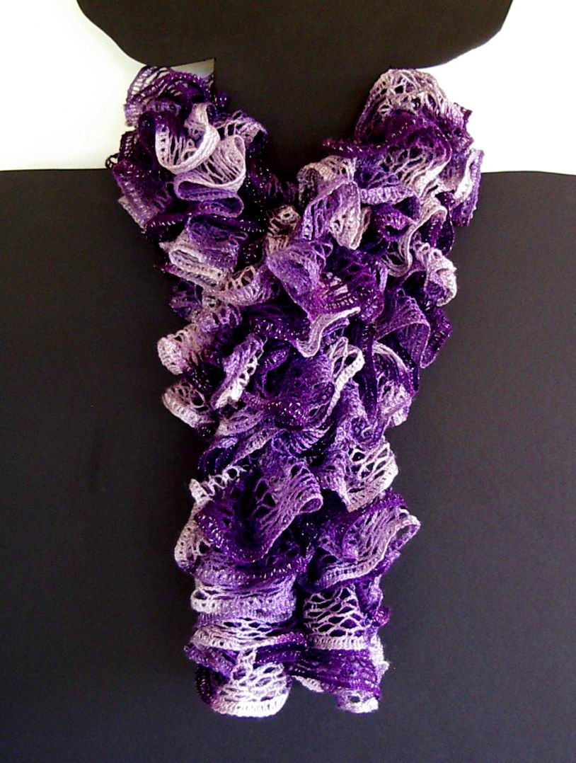 How to Crochet a Sashay Scarf | Sashay Yarn Crochet Scarf | BUFANDAS ...