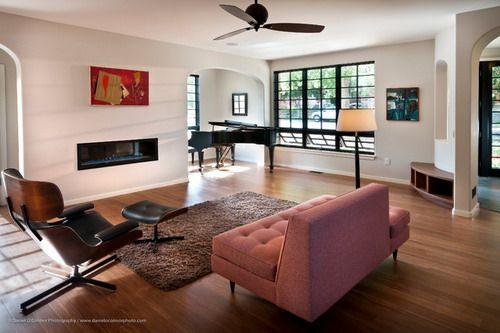 Streamline Modern Minimalist Living Room Furniture Retro House Highlands Denver CO